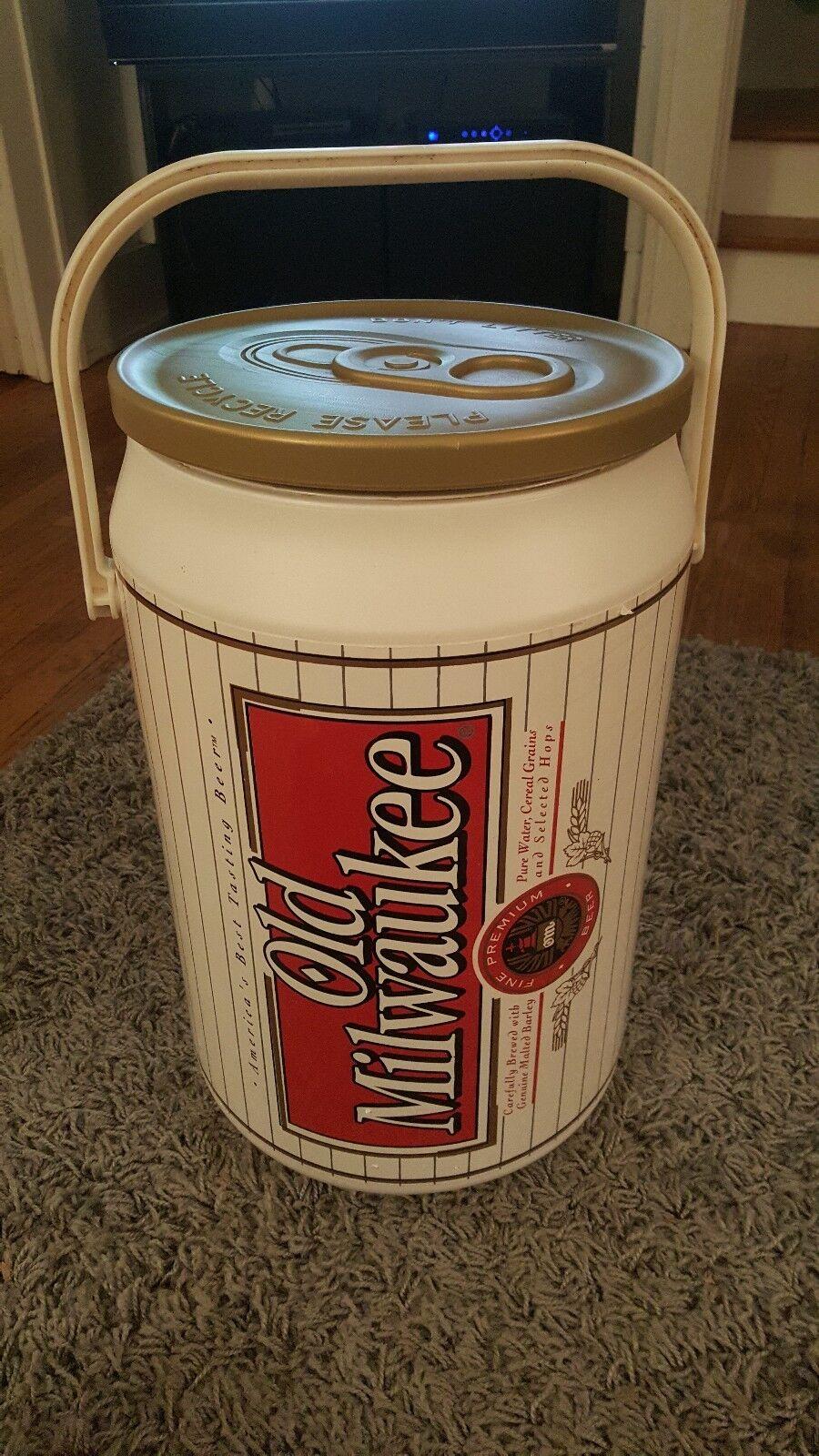 Old Milwaukee BEER Kooler Kraft Can Cooler -stool 1997, 2ft. tall RARE adGrünise