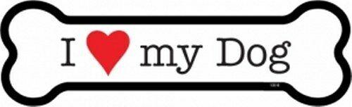 "Love I Heart My Dog Dog Bone Fridge//Car Magnet  2/""x7/"" NEW USA Made Waterproof"