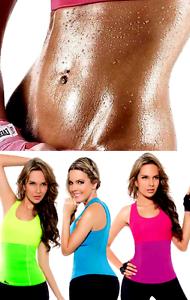UK WOMENS NEOPRENE THERMAL SAUNA SWEAT SUIT SHAPEWEAR BODY SHAPER FOR LADIES gp