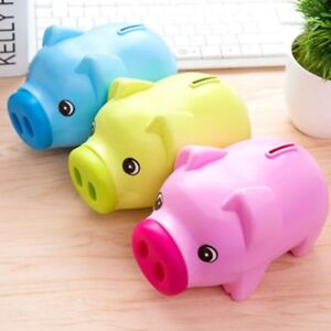 Cute Plastic Piggy Bank Pig Cash Coin Money Saving Box Children Toy Kids Gift