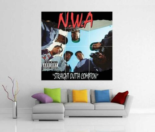 NWA Straight Outta Compton Ice Cube Dr Dre Eazy E Riesiges Wandkunst Fotoposter