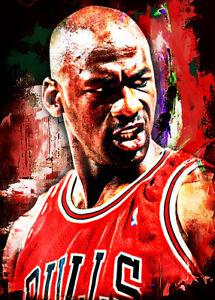 2021 Michael Jordan Chicago Bulls 1/1 Art ACEO Print Card By:Q
