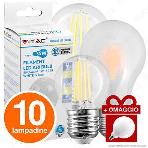 10-LAMPADINE-LED-E27-a-Scelta-in-Vetro-Filament-Omaggio-12W-Globo-Intereurope