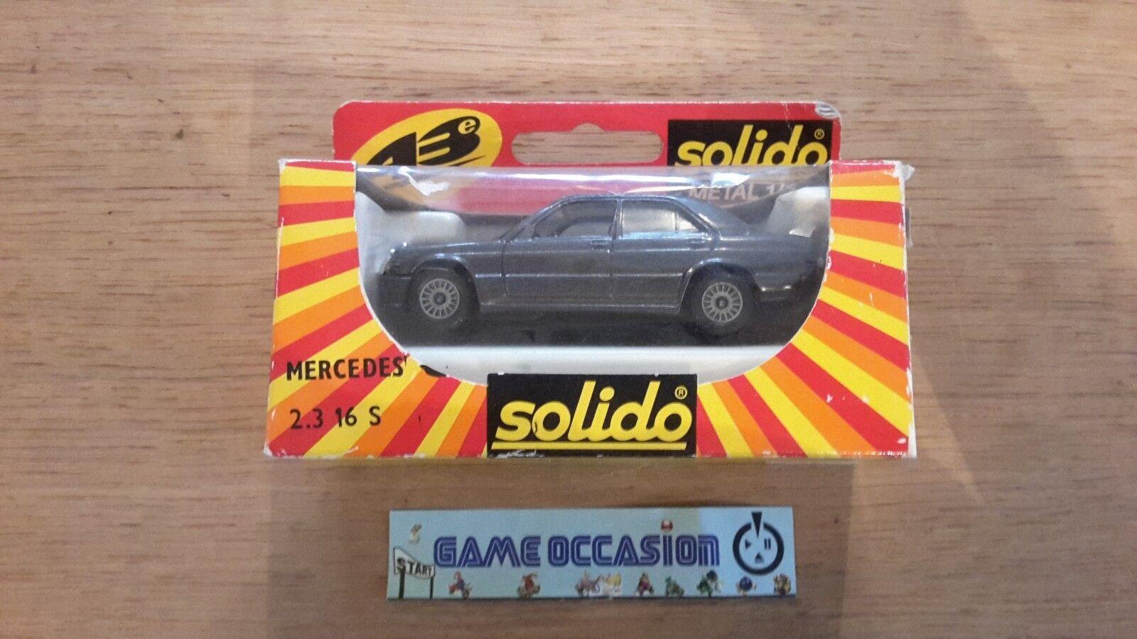MERCEDES 2.3 16 S SOLIDO METAL 1 43   CAR CAR VINTAGE TOY OLD METAL