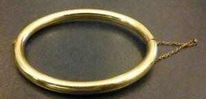KLASSISCHER-ARMREIF-Double-vor-1945-vergoldet-Durchmesser-6-cm-16-Gramm