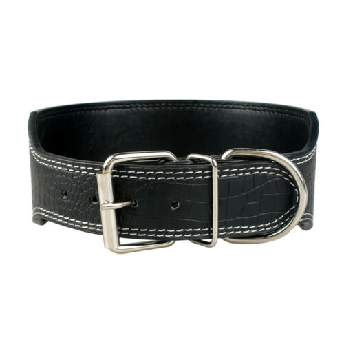 3.0/'/' Wide PU Leather Big Dog Collars Durable for Medium Large Dogs Pet 5 Colors