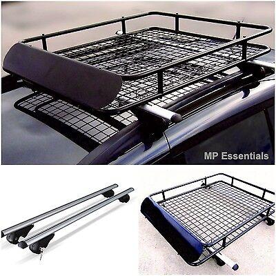 M-Way Lockable Aluminium 90kg Car Roof Rack Rail Bars for Nissan Terrano 1989/>