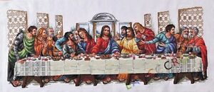 NEW-Finished-completed-Cross-stitch-034-Last-supper-034-home-decor-gifts