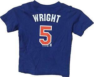 David Wright New York Mets Blue Alternate Player MLB T Shirt (Toddler 3T)