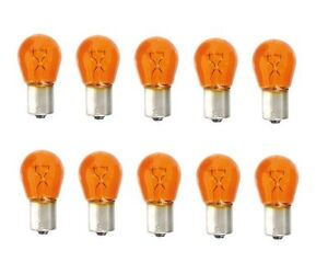 10x-BAU15S-12V-21W-Blinkerbirne-Lampe-Gelb-Orange-keine-LED