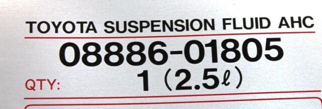 OEM Toyota AHC Suspension Fluid ( 2 5 Liter ) Lx470 Lx570