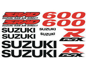 Kit 12 Stickers GSXR GSX-R SRAD 600 750 Suzuki