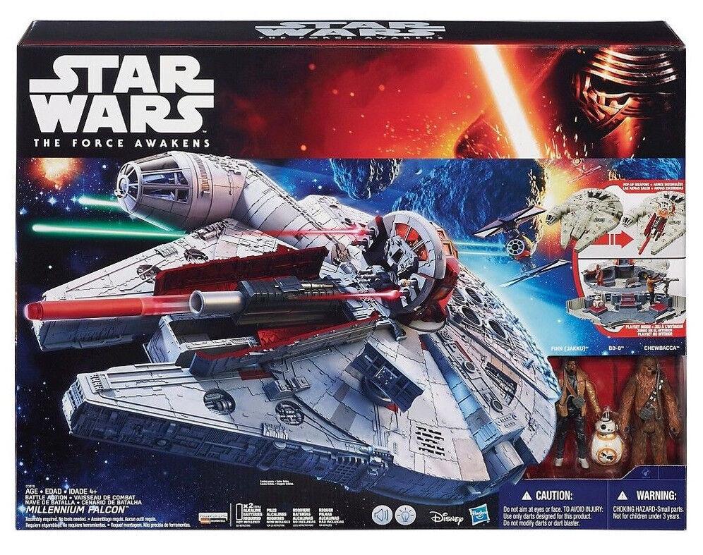 Star Wars Force despierta Halcón Milenario Vehículo 3.75  Figura Set bb-8 2015