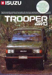 isuzu trooper 4wd 1986 uk market sales brochure | ebay