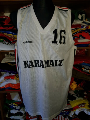 #16 Allemagne basket maillot taille XXL vintage Karamalz Adidas Jersey (j596)