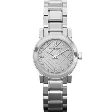 58a6aaeb6a85 Burberry Swiss Analog Silver Stainless Steel Womens Diamond womens Watch  BU9213