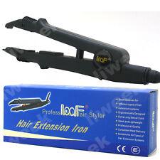 LOOF Adjustable Hair Extension Iron Tool Hair Heat Connector Iron USA Plug Black