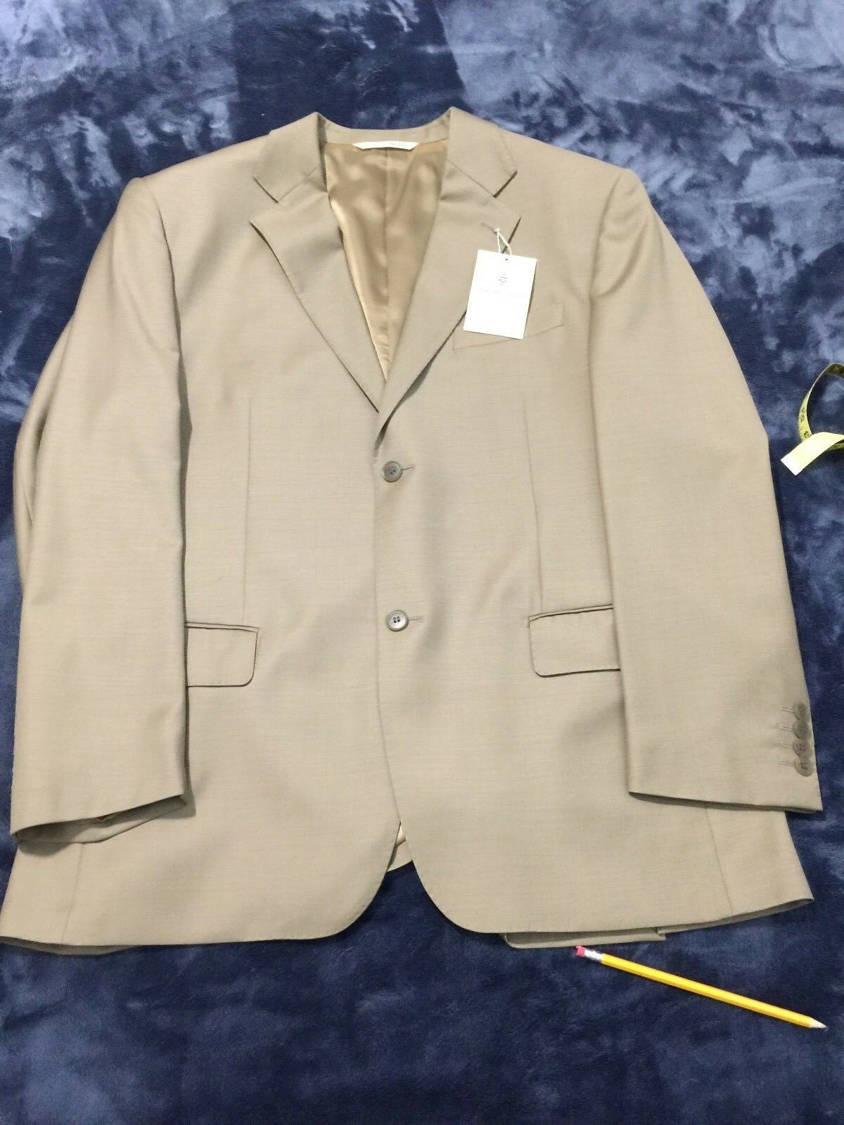 GIORGIO SANETTI  Herren 42R TAUPE  2-Button super 150 Wool SuitFlat Pant