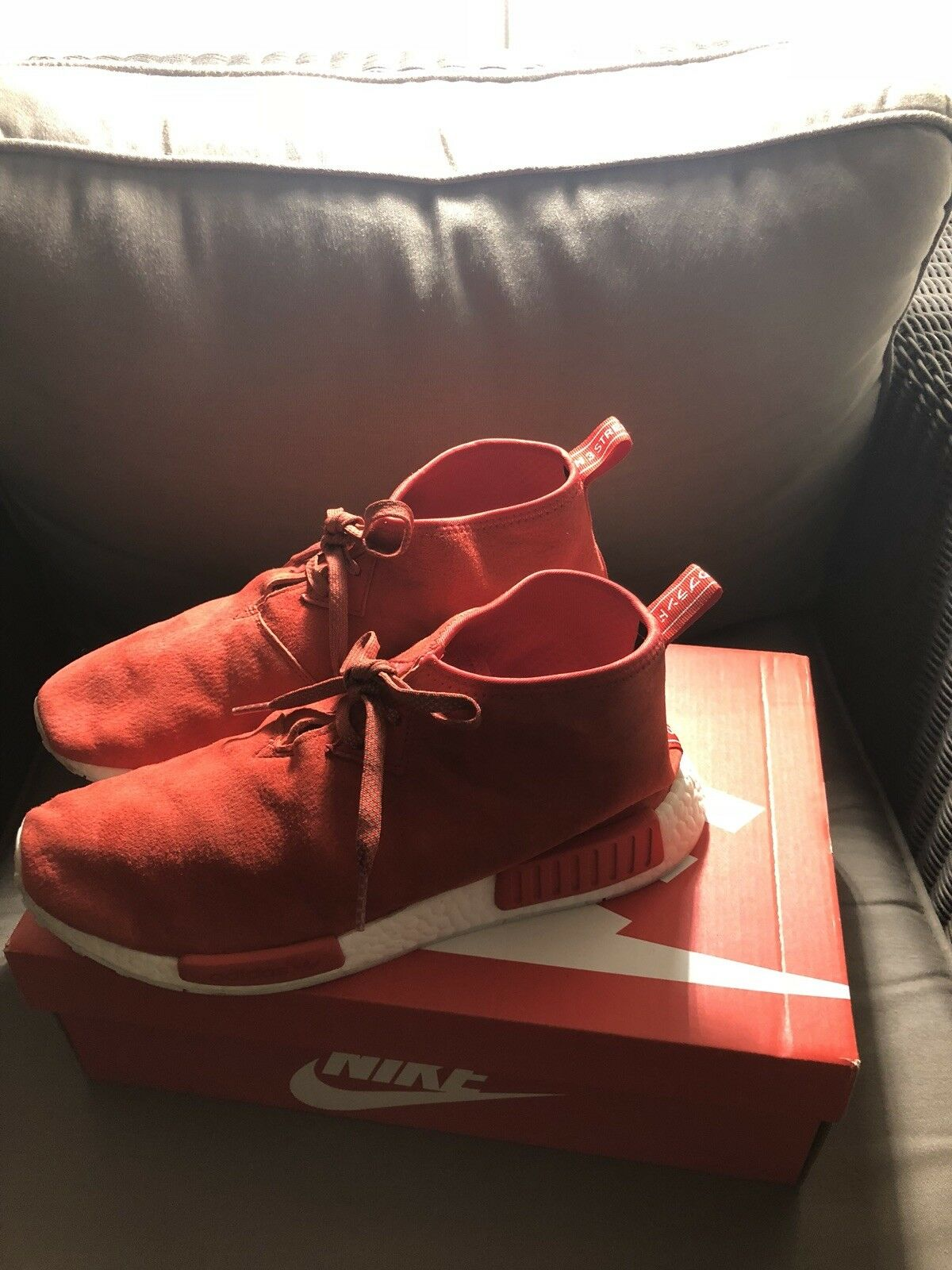Adidas NMD Nomad C1 Red Chukka Size 10.5  Boost Suede S79147