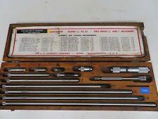 Starrett Model 832f 1 12 32001 Inside Micrometer Set On47