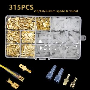 315PCS Assortment Terminal Kit Electrical Wire Male+Female Spade Crimp Connector