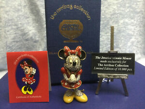 Swarovski Minnie Mouse Jeweled w/Pave Stones 14012002 SDW003. Ltd Ed Closed 2005