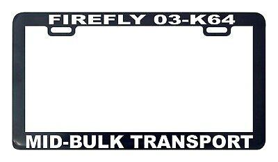 FIREFLY 03K64 Serenity Fans Glossy Black License Plate Frame Screw Caps