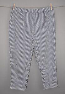 Lane-Bryant-Women-039-s-Navy-White-Striped-Tapered-Leg-Ankle-Pants-Size-24-NEW