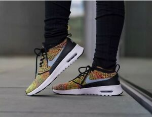 Details about Women's Nike Air Max Thea Ultra FK Flyknit Rainbow Uk Size 4.5 881175 600