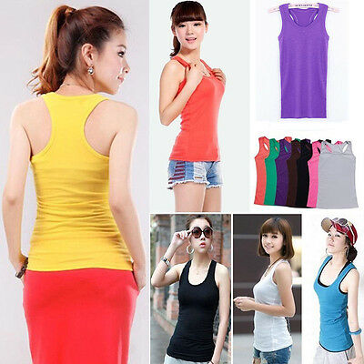 Casual Wild Casual Women's Sleeveless Tank Tops Cami No Sleeve T-shirt Vest