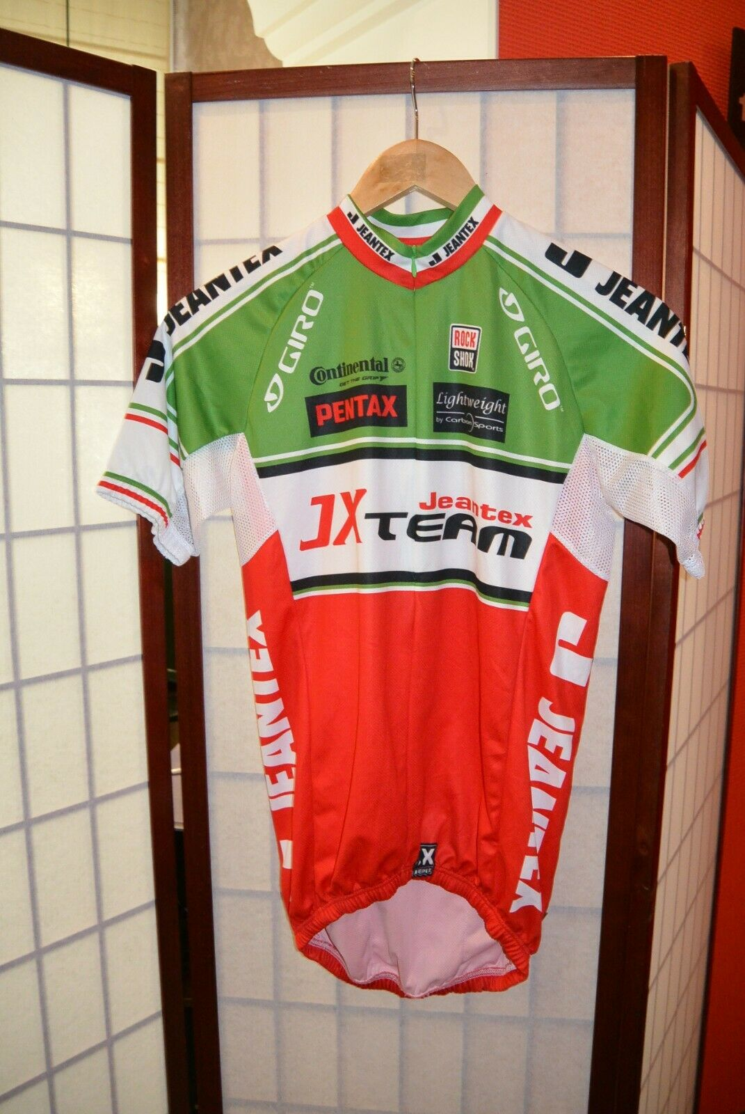 JX SQUADRA Pentax ITALIA TEAM Retrò Vintage Ciclismo Jersey S  141