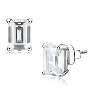 Silver stud earrings 2mm .50tcw cz sterling silver 925 cubic zirconia new 168