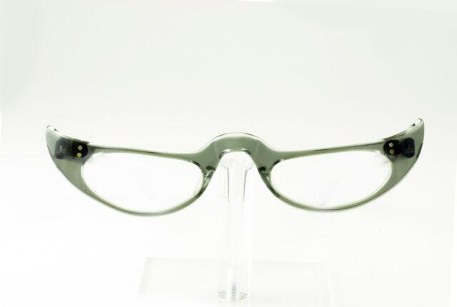 vintage 1950s clear crescent moon cateye eyeglass frames hand made nos zyl - Zyl Frames