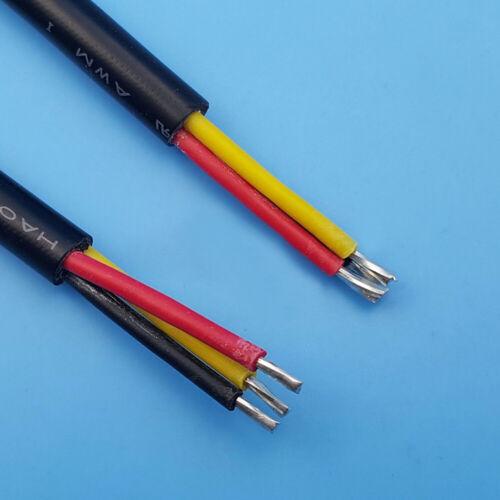10 Stück LED-Kabelstecker 18AWG 6A Draht 3-polige Buchse Buchse UL94V-0 Strips