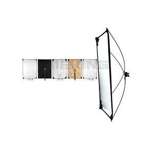 59-79inch Light Control Panels System + abrics 5-in-1 Light Photo Reflector