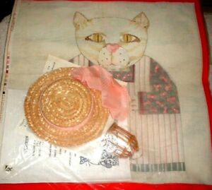 MZC-Hearth-Cats-3D-Doll-with-Stitch-Guide-HP-Hand-Painted-Needlepoint-Canvas