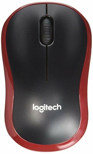 Logitech M185 Wireless Mouse for Windows, Mac and Linux - Red