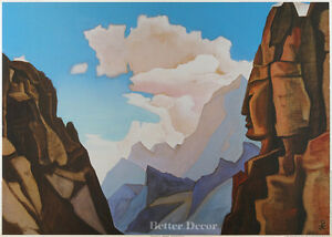 28-034-PRINT-Spirit-of-Himalayas-1934-by-N-Roerich-MUSEUM-ART-MOUNTAIN-LANDSCAPE
