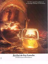 PUBLICITE ADVERTISING  1981   HAUTE COUTURE de GUY LAROCHE    parfum J'AI OSE