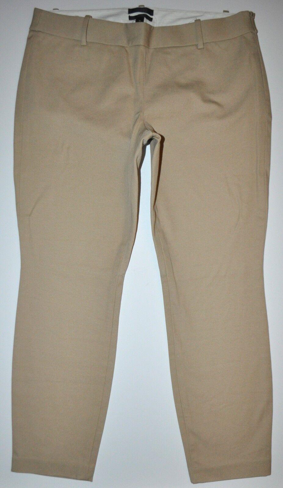 NEW J.Crew Tan Mini Slim Skinny Ankle Dress Pants Sz 10 (W33  L26 1 4 ) Stretch