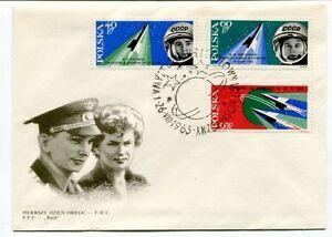 1963 Pierwszy Dzien Obiegu Polska Tiereszkowa Pierwska Kobieta Kosmose Space Ventes Pas ChèRes 50%