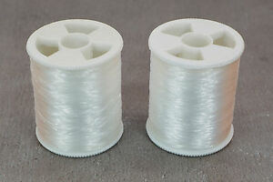2-Rollen-400m-Nylon-Naehfaden-transparent-0-14mm-monofiles-Naehgarn-0-98-100m