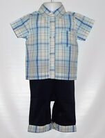 Old Navy Infant Boys Short Sleeve Spring Summer Pant Set Blue 3-6m