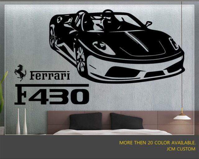 FERRARI F40 Wall Sticker Removable Vinyl Quote Decal Canvas Auto 1