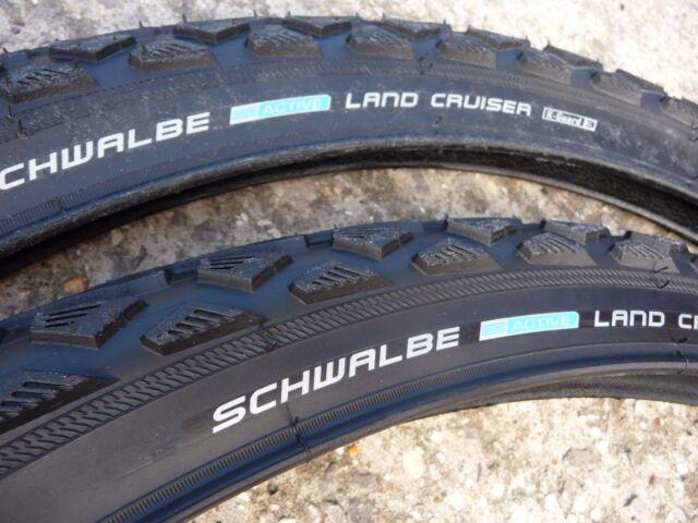 "TYRES Schwalbe Land Cruiser Pair 26"" MTB Cycle Bike 26x1.75"" Mountain bike MTB"