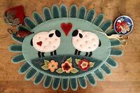 Woolen Love Table Runner Hand Embroidery Pattern, From Bird Brain Designs,