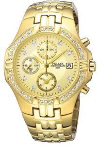 Pulsar-Unisex-Chronograph-Gold-Plated-Dress-Watch-PF8174X1-PNP