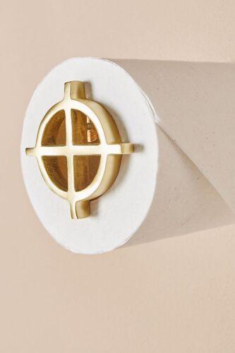 Anthropologie Loft Geo Brass Modernist Toilet Paper Holder NEW