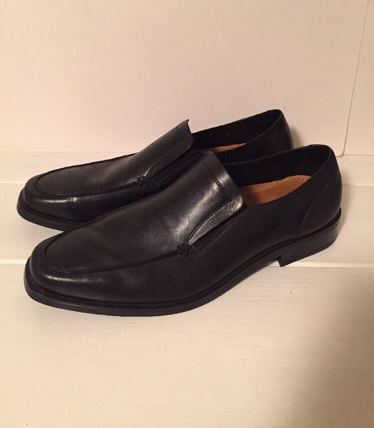 Cole Haan Mens Black Leather Loafer Slip On Shoe Size 13