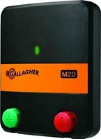 Gallagher M20 AC Powered Electric Fence Charger Energizer 8 acre/1.25mile/.2J